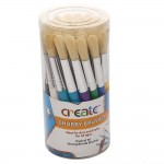 Create - Chubby Brush Canister (30 Brushes)